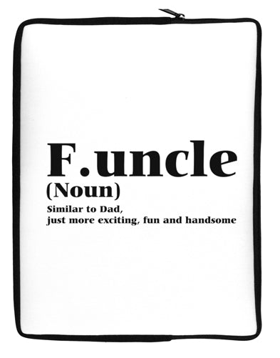 Funcle - Fun Uncle Neoprene laptop Sleeve 10 x 14 inch Portrait by TooLoud