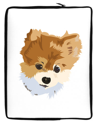 Custom Pet Art Neoprene laptop Sleeve 10 x 14 inch Portrait by TooLoud