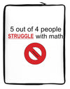 5 out of 4 People Funny Math Humor Neoprene laptop Sleeve 10 x 14 inch Portrait by TooLoud