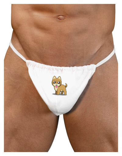 Kawaii Standing Puppy Mens G-String Underwear