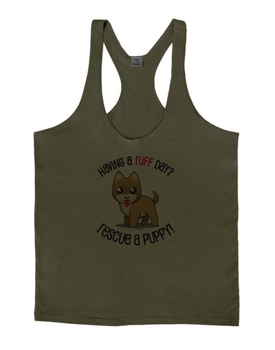 Rescue A Puppy Mens String Tank Top