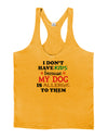 I Don't Have Kids - Dog Mens String Tank Top
