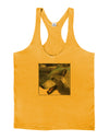 White Wolf Face Mens String Tank Top