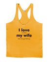 I Love My Wife - Fishing Mens String Tank Top