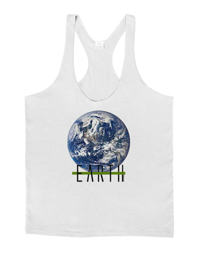 Planet Earth Text Mens String Tank Top