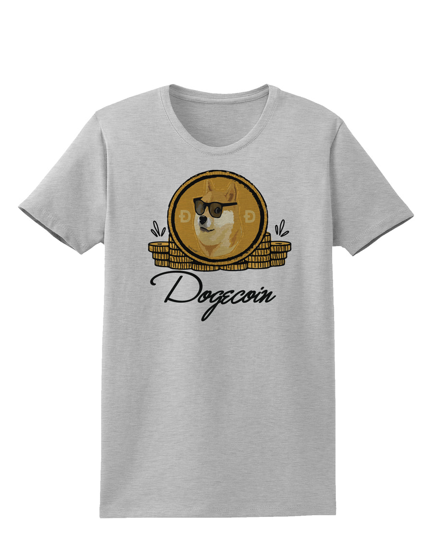 Doge Coins Womens T-Shirt White 4XL Tooloud