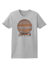 Planet Jupiter Earth Text Womens T-Shirt