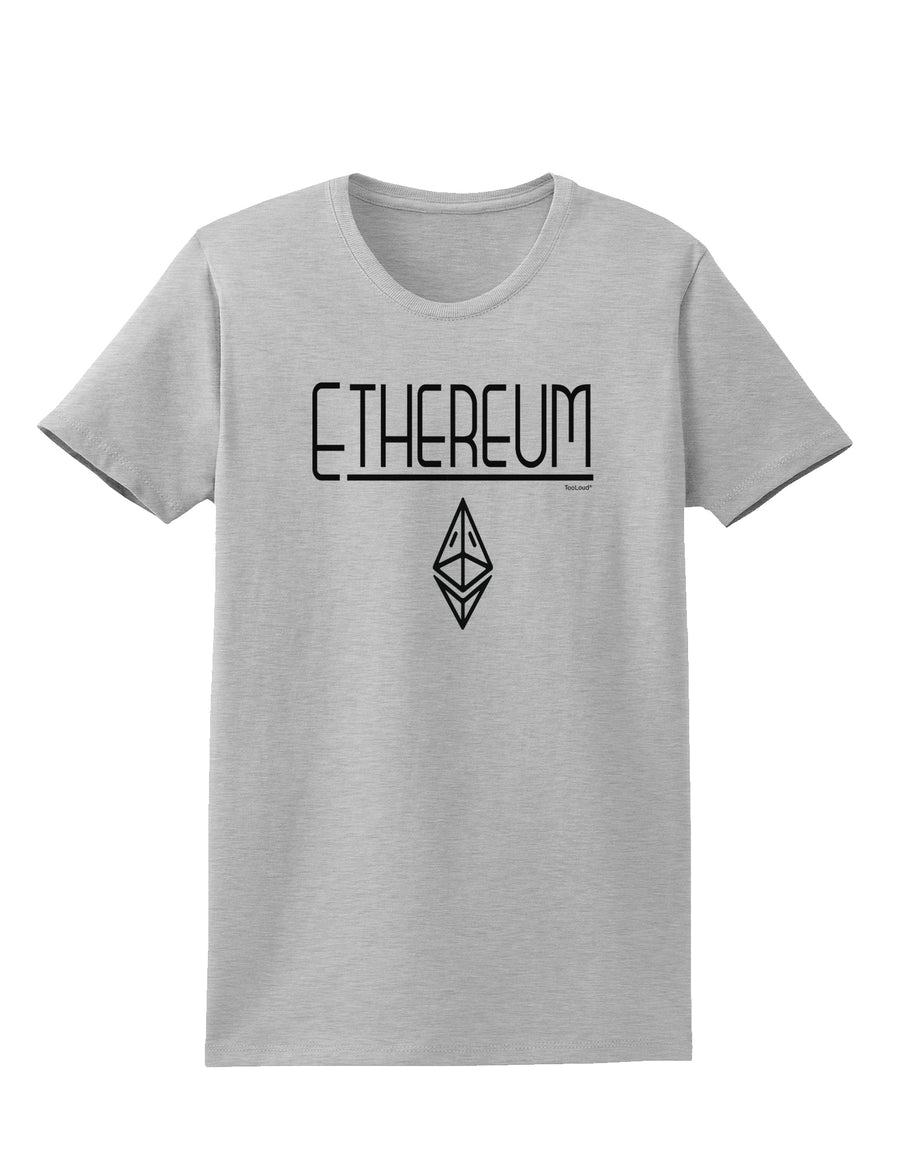 Ethereum with logo Womens T-Shirt White 4XL Tooloud