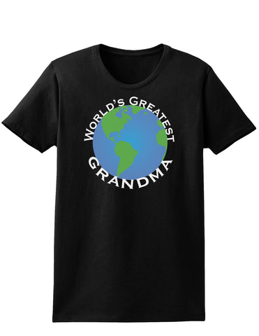 World's Greatest Grandma Womens Dark T-Shirt