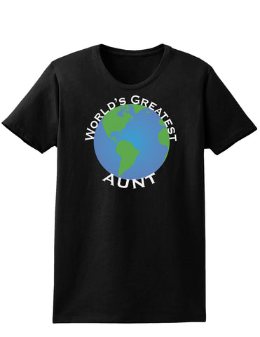 World's Greateest Aunt Womens Dark T-Shirt