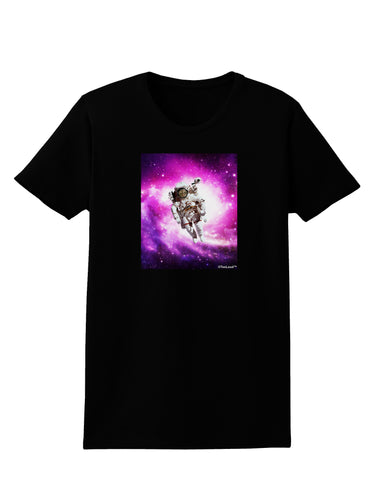 Astronaut Cat Womens Dark T-Shirt