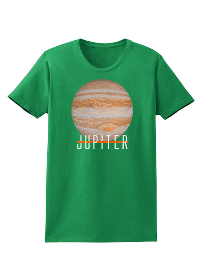 Planet Jupiter Earth Text Womens Dark T-Shirt