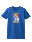 Adopt Cute Puppy Poster Womens Dark T-Shirt
