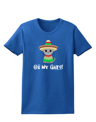 Oh My Gato - Cinco De Mayo Womens Dark T-Shirt