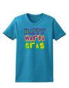 Happy Mardi Gras Text 2 Womens Dark T-Shirt