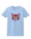Geometric Kitty Red Womens T-Shirt