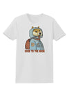 Doge to the Moon Womens T-Shirt White 4XL Tooloud