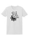 Mandala Baby Elephant Womens T-Shirt - White - 4XL Tooloud
