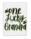 TooLoud One Lucky Grandpa Shamrock Fridge Magnet 2 Inchx3 Inch Portrai