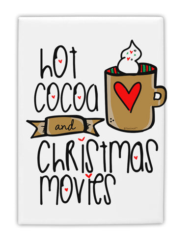 TooLoud Hot Cocoa and Christmas Movies Fridge Magnet 2 Inchx3 Inch Por