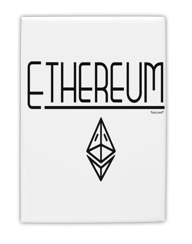 TooLoud Ethereum with logo Fridge Magnet 2 Inchx3 Inch Portrait