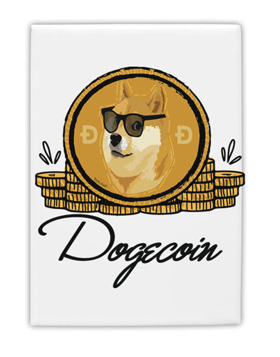 TooLoud Doge Coins Fridge Magnet 2 Inchx3 Inch Portrait
