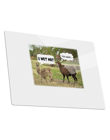 Angry Standing Llamas Metal Panel Wall Art Landscape - Choose Size by TooLoud