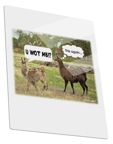 Angry Standing Llamas Metal Panel Wall Art Portrait - Choose Size by TooLoud
