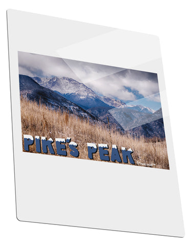 Pikes Peak CO Mountains Text Metal Panel Wall Art Portrait - Choose Size by TooLoud