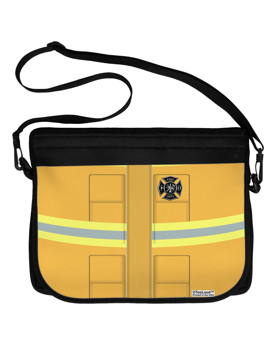 Firefighter Yellow AOP Neoprene Laptop Shoulder Bag All Over Print