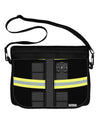 Firefighter Black AOP Neoprene Laptop Shoulder Bag All Over Print