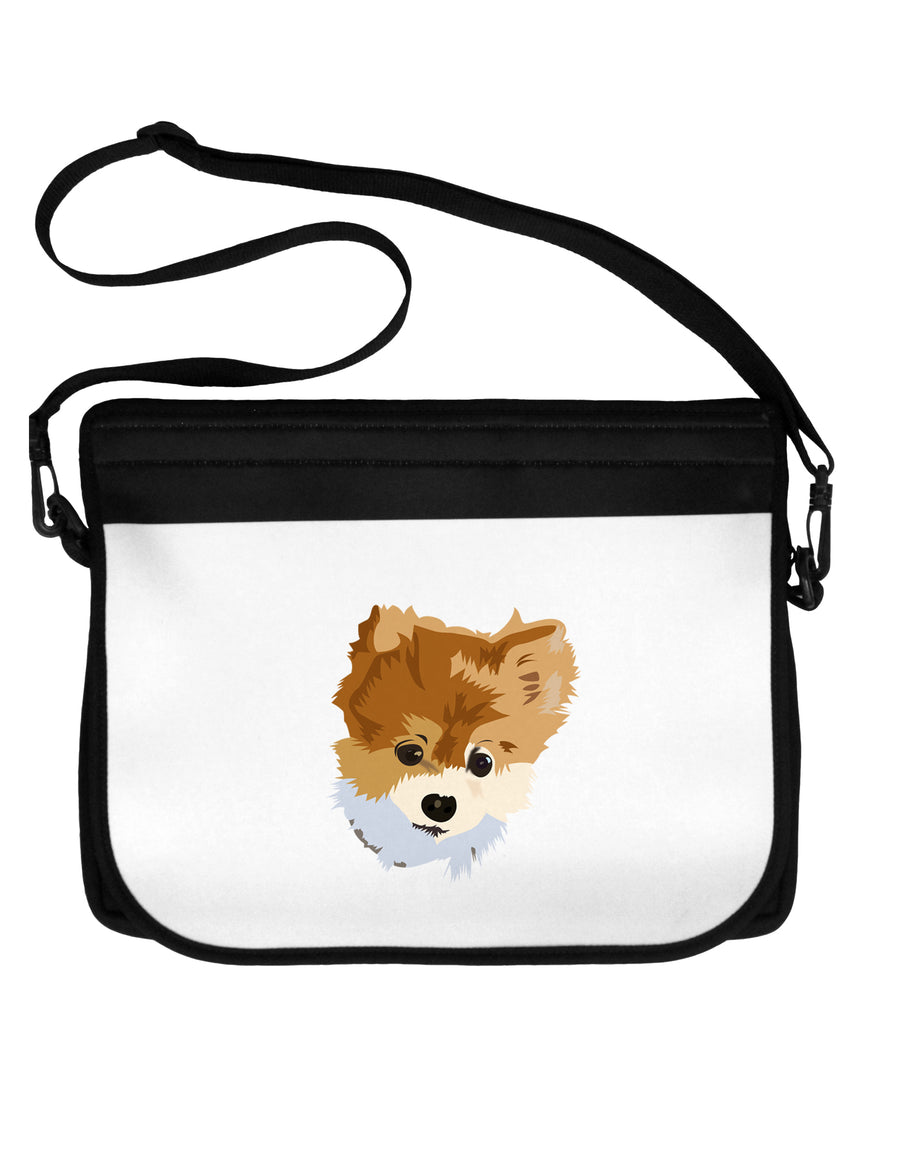 Custom Pet Art Neoprene Laptop Shoulder Bag by TooLoud