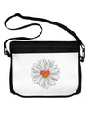 Pretty Daisy Heart Neoprene Laptop Shoulder Bag