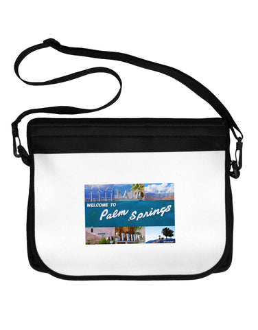 TooLoud Welcome to Palm Springs Collage Neoprene Laptop Shoulder Bag