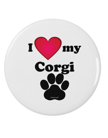 "I Heart My Corgi 2.25"" Round Pin Button by TooLoud"