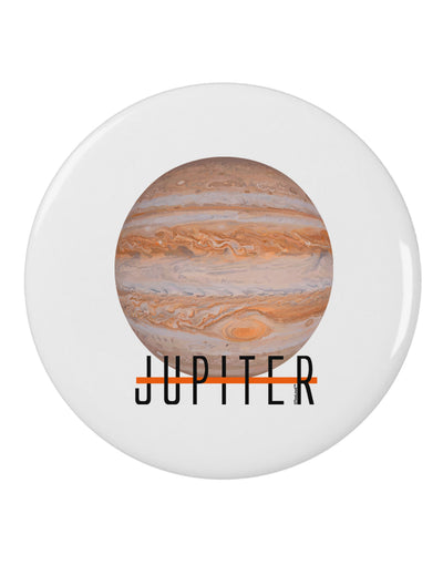 "Planet Jupiter Earth Text 2.25"" Round Pin Button"