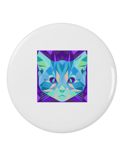 "Geometric Kitty Inverted 2.25"" Round Pin Button"