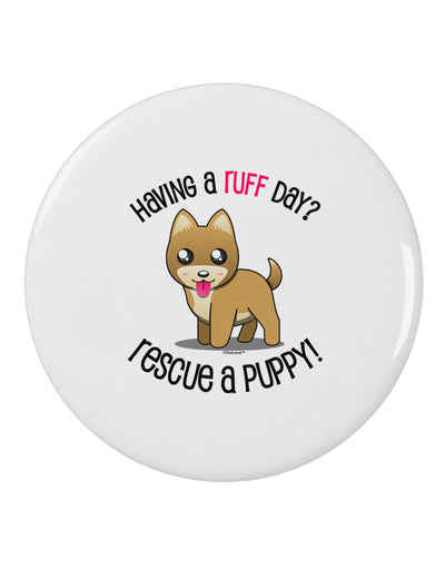 "Rescue A Puppy 2.25"" Round Pin Button"