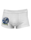 Planet Earth Text Side Printed Mens Trunk Underwear