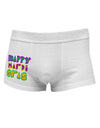 Happy Mardi Gras Text 2 Side Printed Mens Trunk Underwear