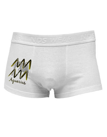 Aquarius Symbol Side Printed Mens Trunk Underwear