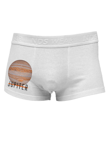 Planet Jupiter Earth Text Side Printed Mens Trunk Underwear