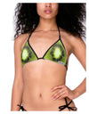 Kiwi Fruit Swimsuit Bikini Top All Over Print by TooLoud