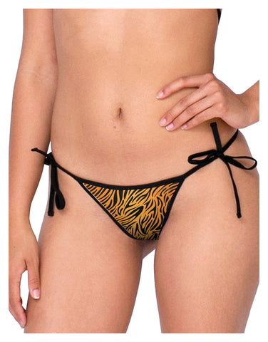 Tiger Print Swimsuit Bikini Bottom S All Over Print