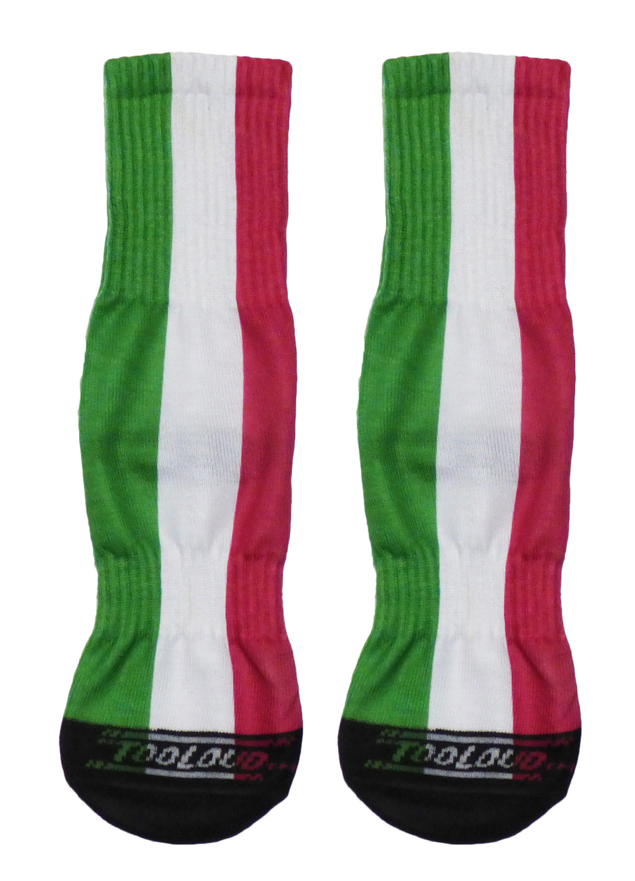 Italian Flag All Over Adult Crew Socks All Over Print