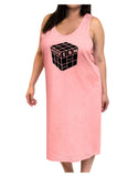 Autism Awareness - Cube B & W Adult Tank Top Dress Night Shirt