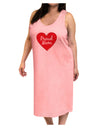 Proud Mom Heart Adult Tank Top Dress Night Shirt
