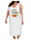 Give Thanks Adult Tank Top Dress Night Shirt White Tooloud