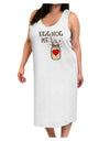 Eggnog Me Adult Tank Top Dress Night Shirt White Tooloud