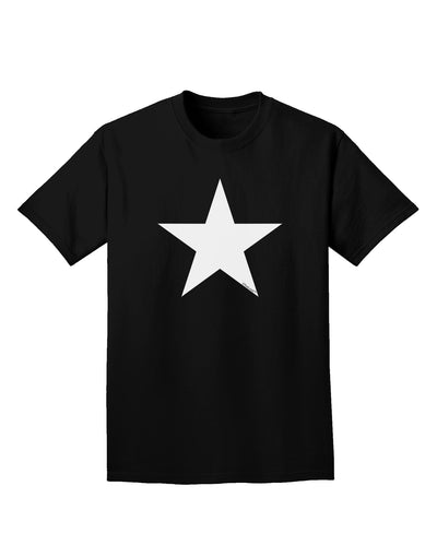 White Star Adult Dark T-Shirt - Black - 4XL Tooloud